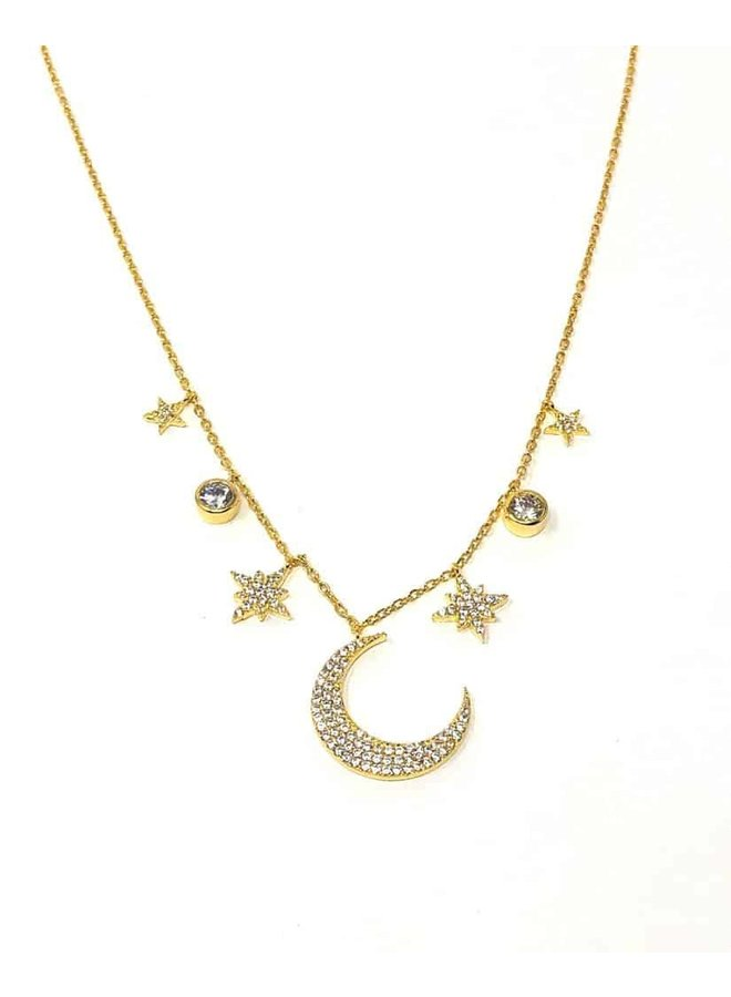 Wendy Moon Necklace - Gold