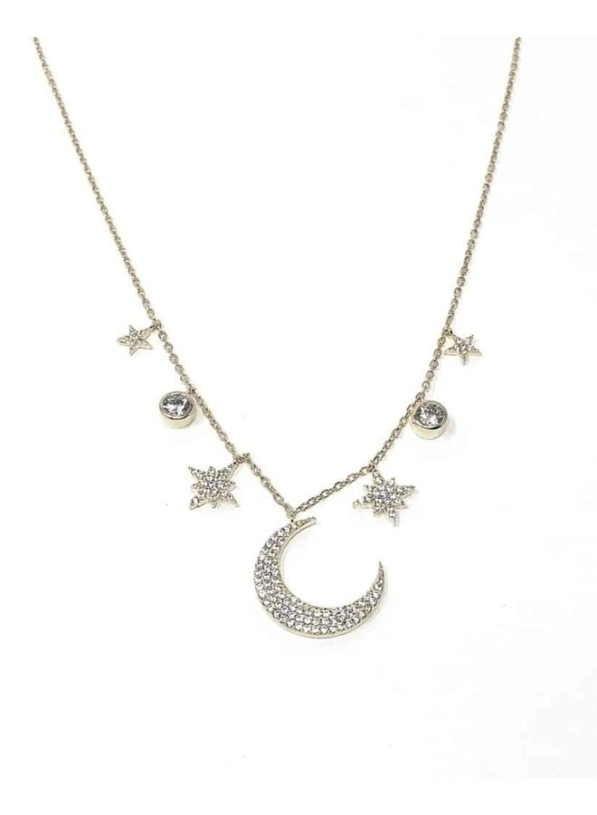 Wendy Moon Necklace - Silver