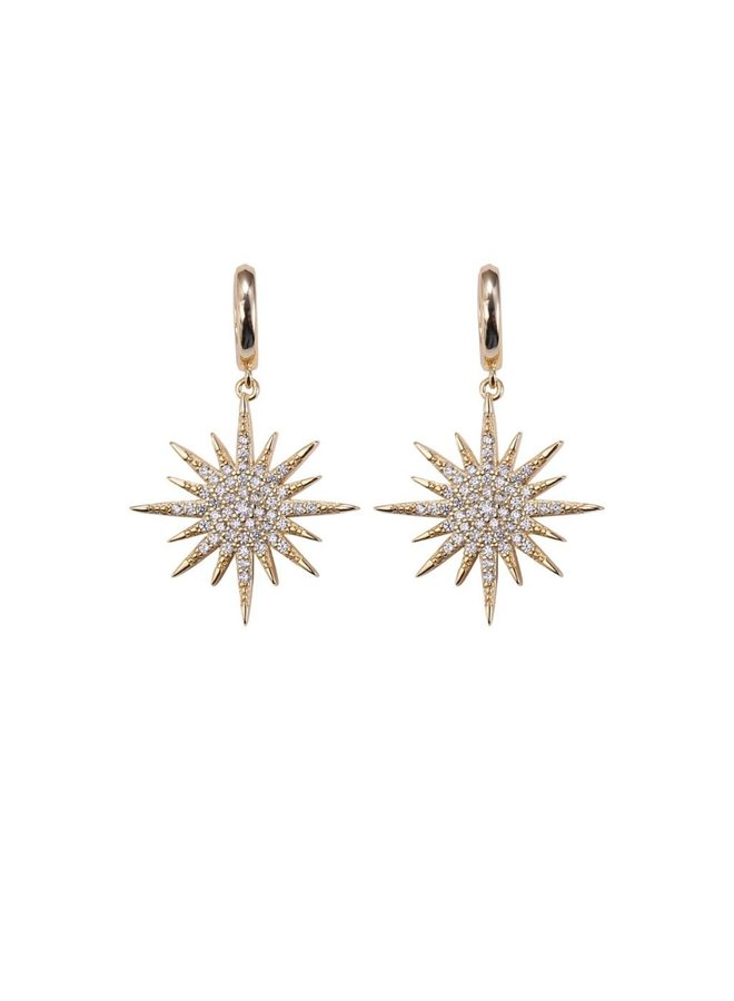 Lola Star Huggies Earrings - Gold