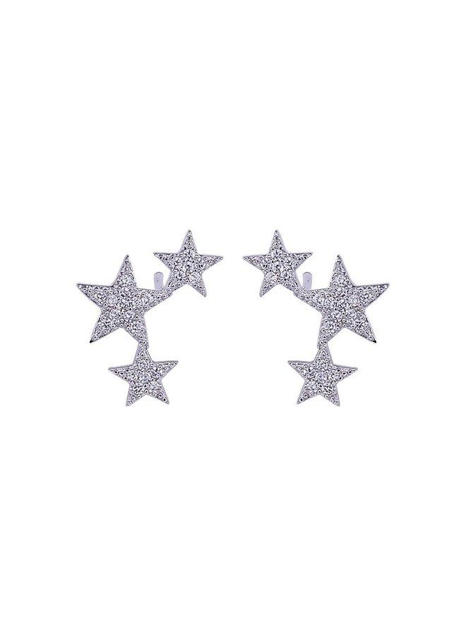 Lucky Star Earrings - Silver