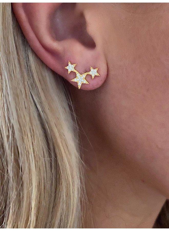 Lucky Star Earrings - Gold