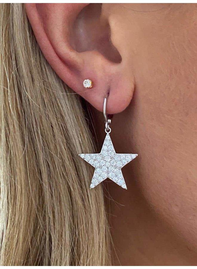 Star Gazer Earrings - Silver