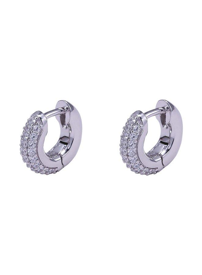 Eleanor Huggies Earrings - Silver