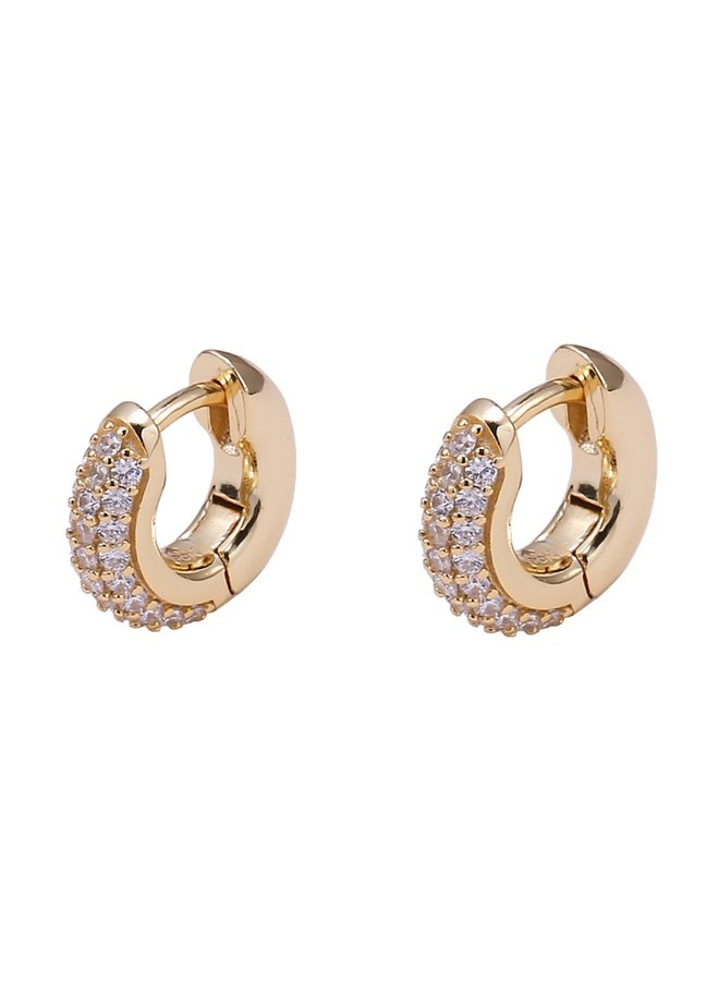 Eleanor Huggies Earrings - Gold