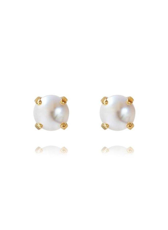 Classic stud earring - Gold Pearl