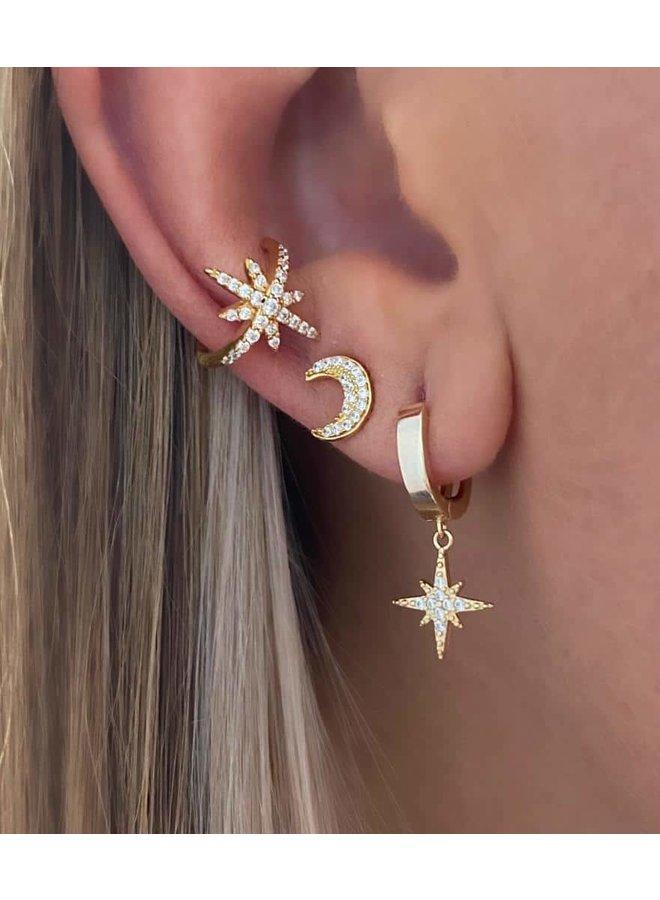 Starburst Ear Cuff - Gold