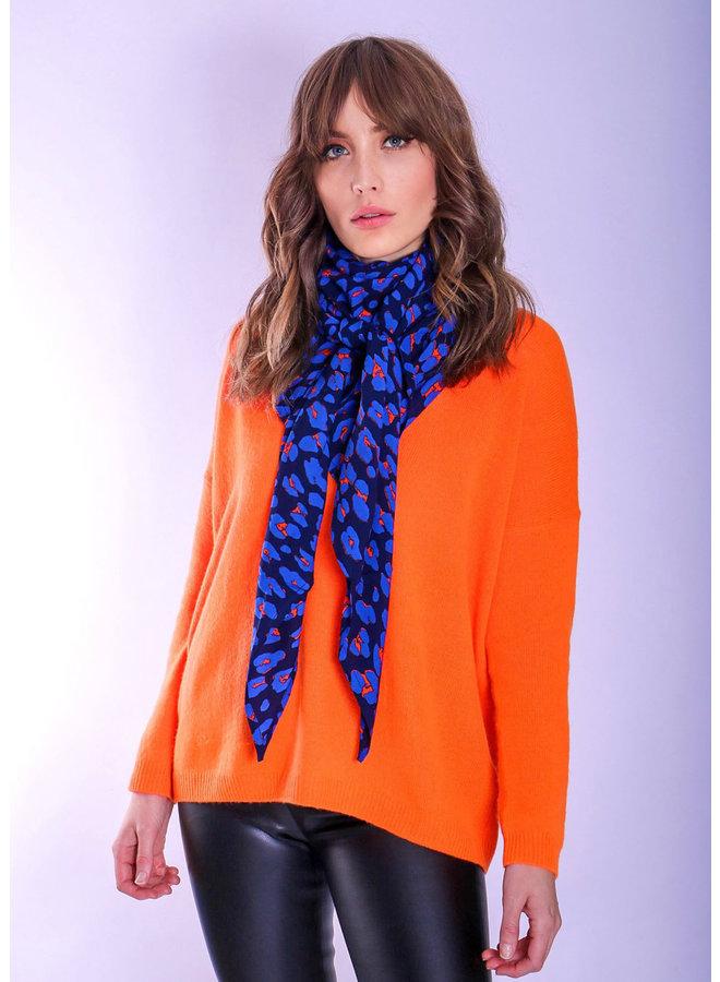 doodiescarf - Animal navy/cobalt/orange