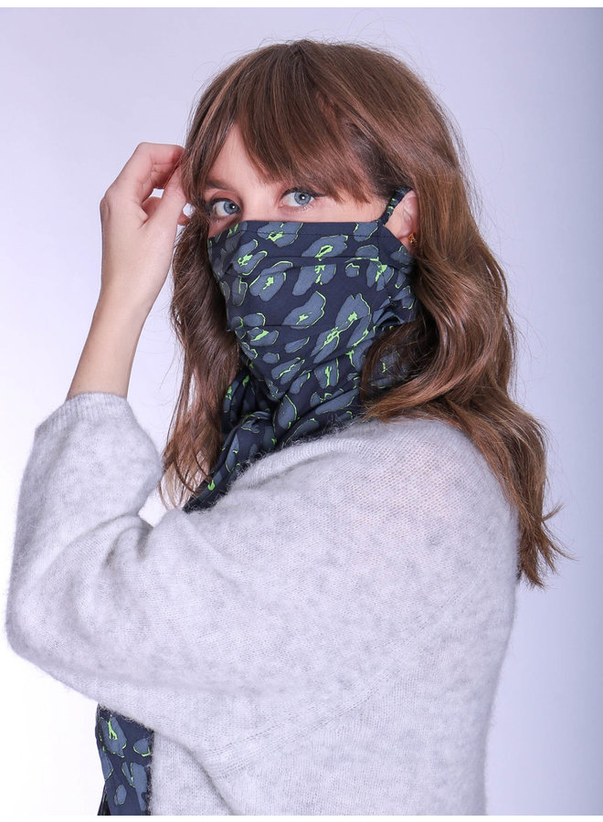 doodiescarf - Animal grey/green
