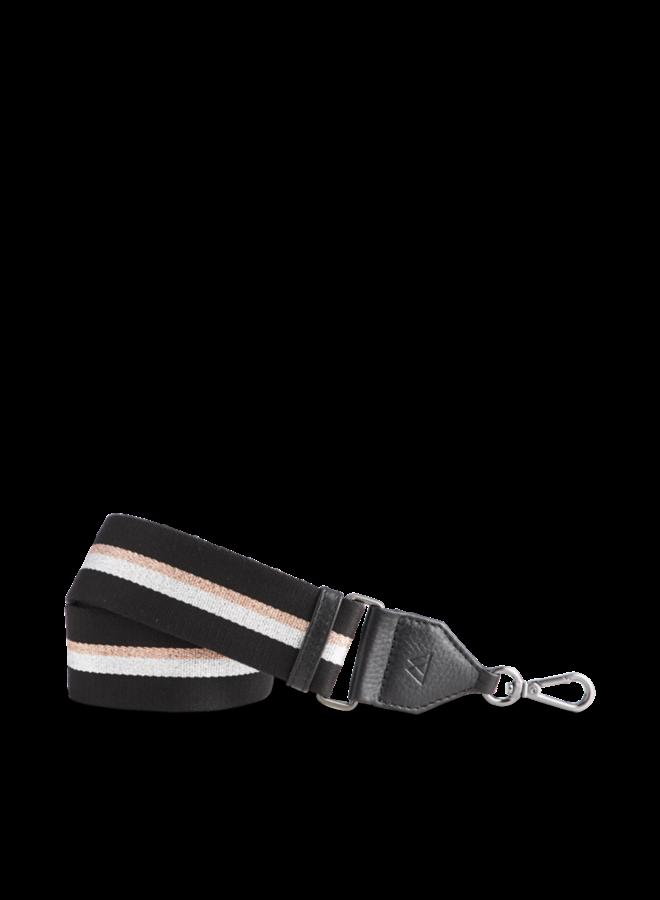 Finley Bag Strap - Black black silver rose gold