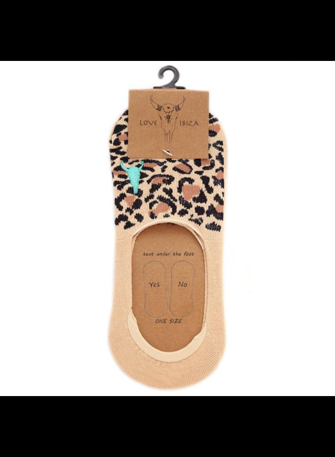 Sneaker sock Leopard beige