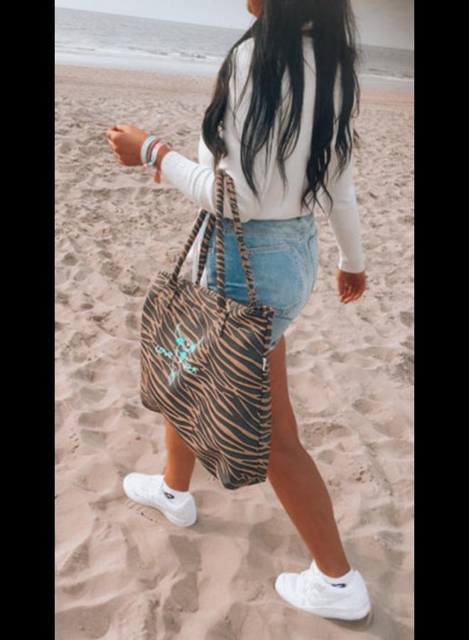 Zebra shoulder bag medium