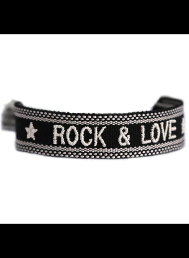 Woven Bracelet Rock & Love