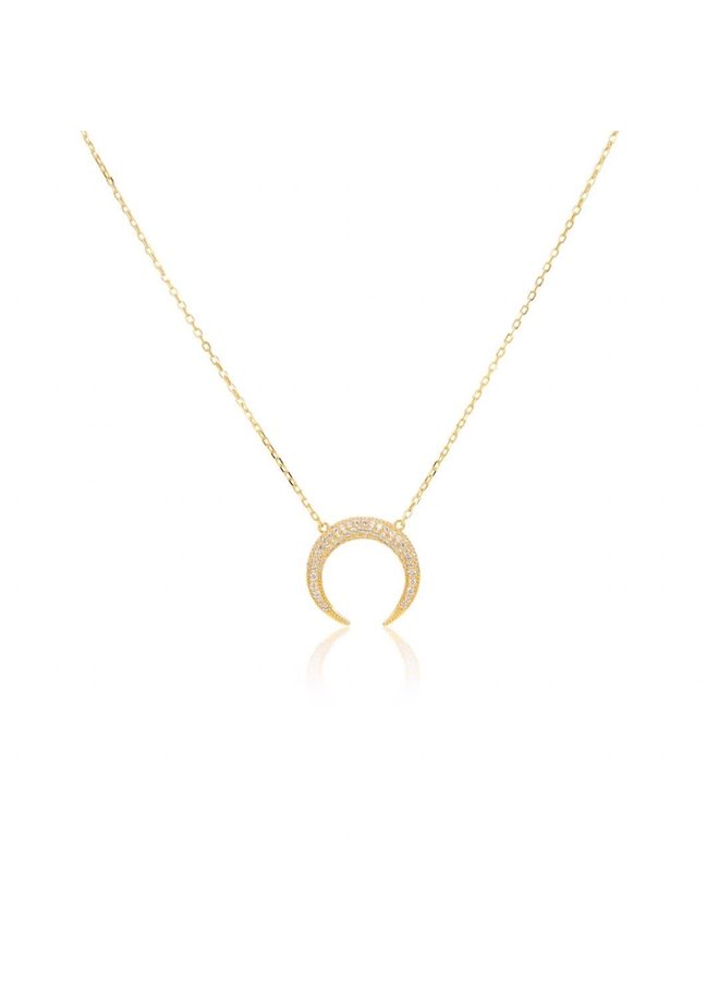 S11625 Crescent moon on chain - Gold