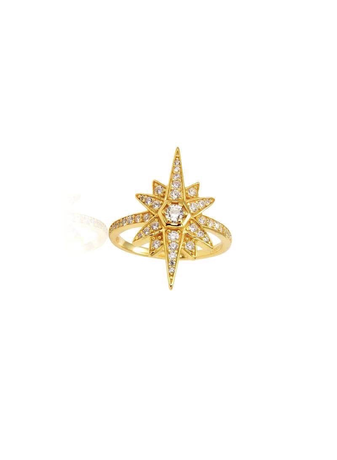 R2921 Mini Valhalla ring - Gold