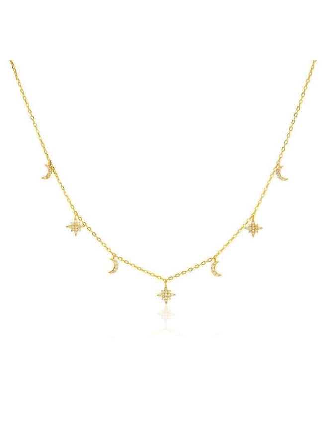 S4220 Solar Necklace - Gold