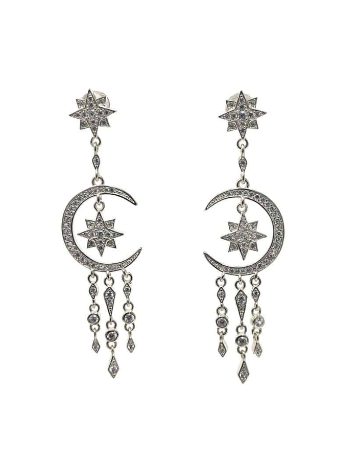 E6650S Chandelier earrings - Silver
