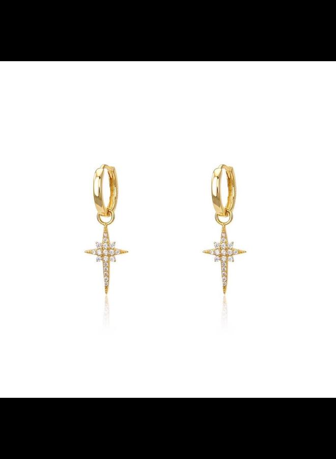E9618 Valhalla Huggies Earrings - Gold