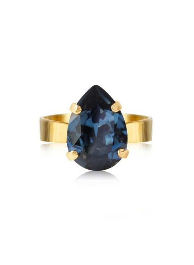 Mini Drop Ring - Gold Montana