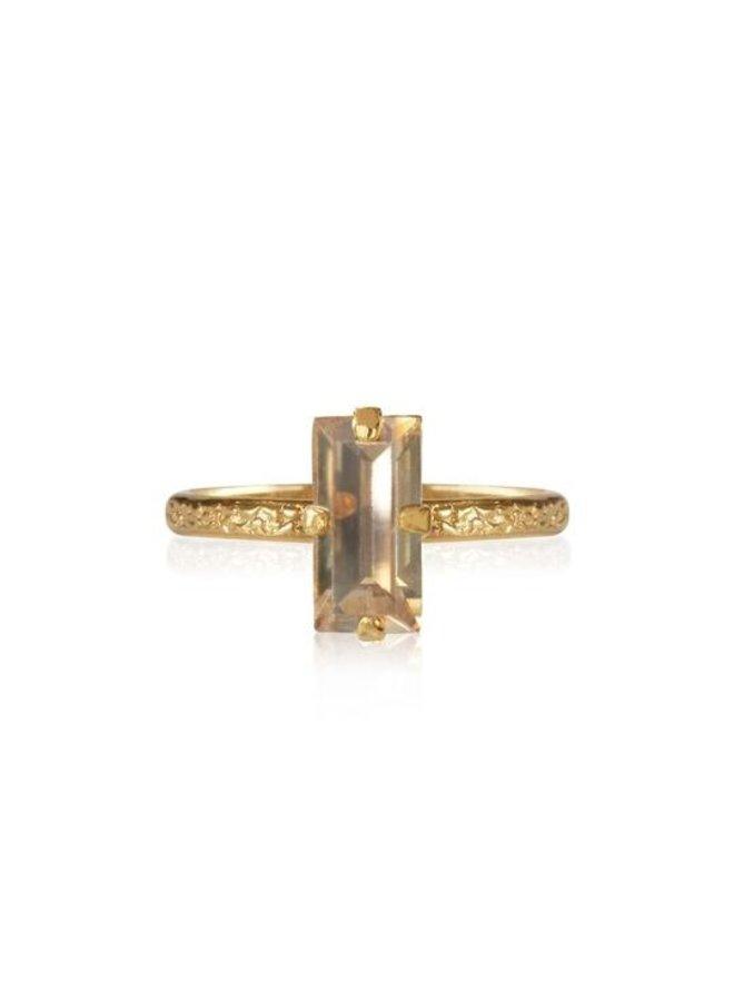 Baguette Ring - Gold Golden Shadow
