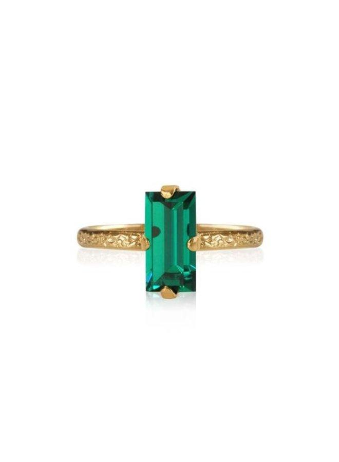 Baguette Ring - Gold Emerald