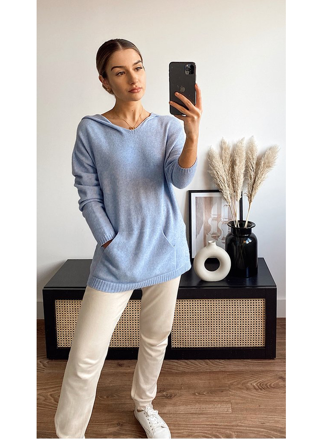 Sunday Hooded Top - Sky Blue