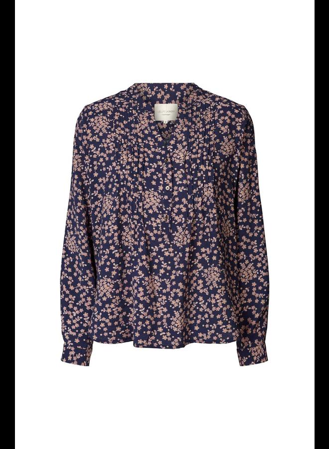 Helena Shirt - Navy Flower Print