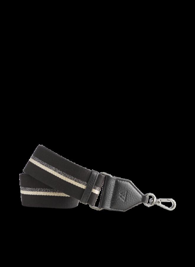 Finley Bag Strap - B gold w/black gold gunmetal