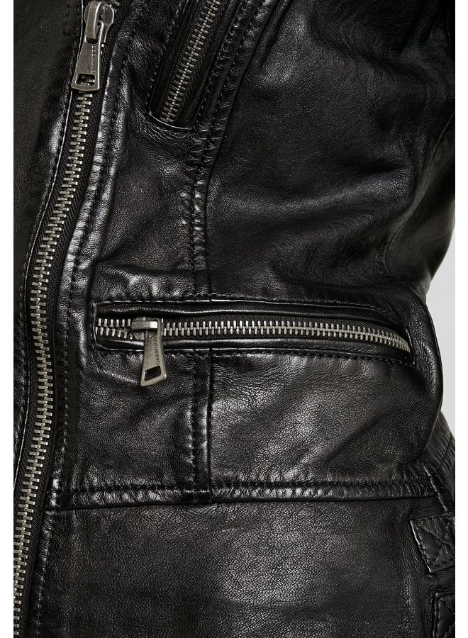 Cinema Faux Fur Collar Jacket - Black