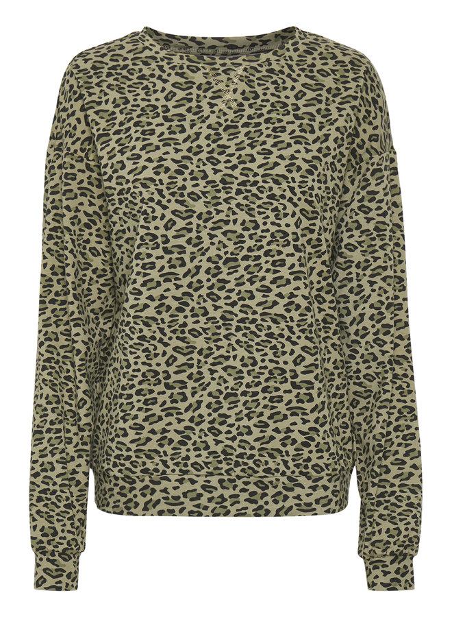 Rovena Sweatshirt - Burnt Olive Leo