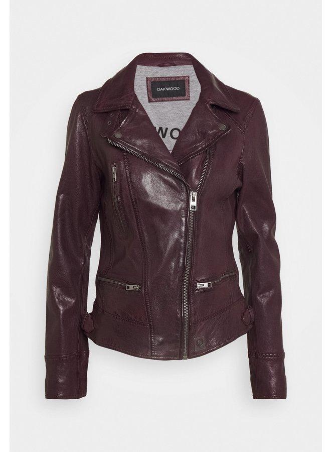 Video Leather Jacket - Plum