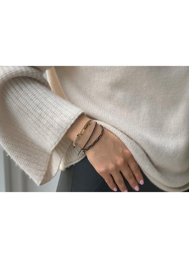 FREUPBLK Euphonium bracelet - Black/Gold