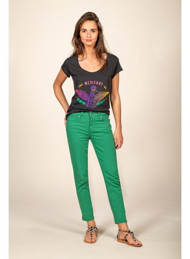 Slim 7/8 pant - Emerald