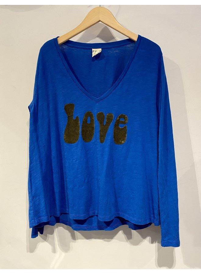 Love T-shirt - Classic Blue