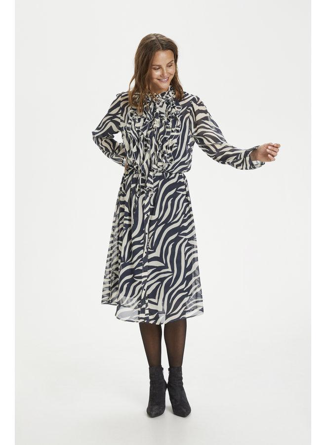 Lilly Dress - Total Eclipse Zebra