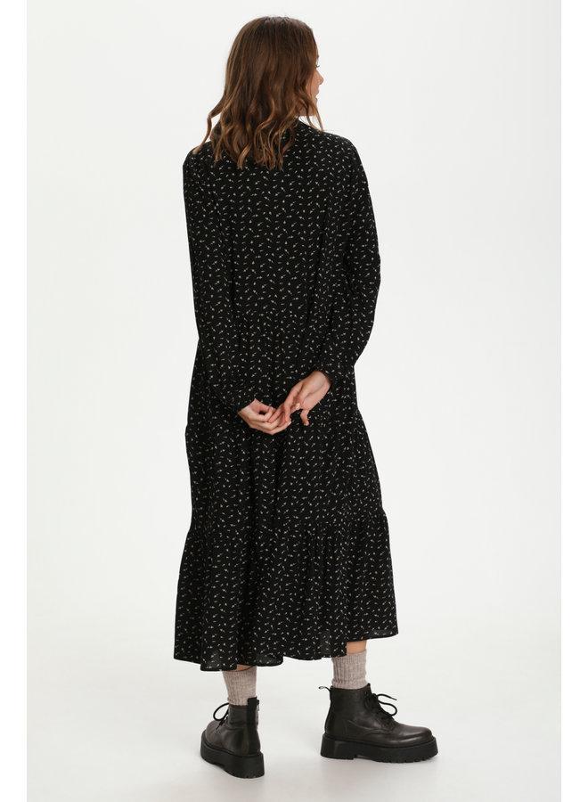 Eda Maxi Dress - Black Flower