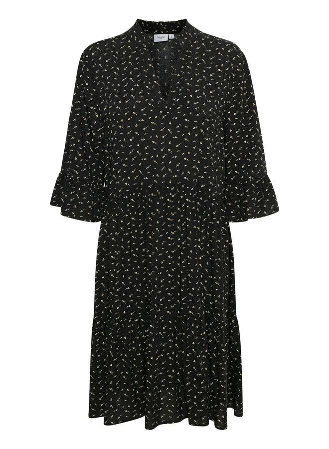 Eda Dress - Black Flower