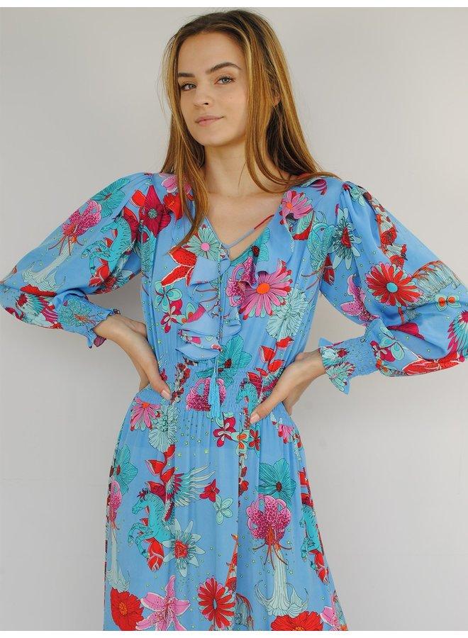 Miranda Maxi Dress - Blue