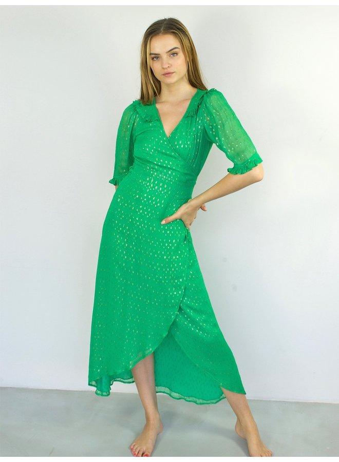 Aria Maxi Dress - Metallic Jade Confettie
