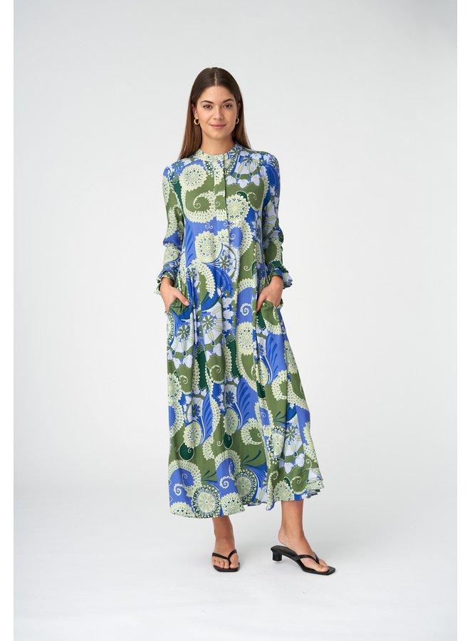 Rosanna Dress -  Khanga Green