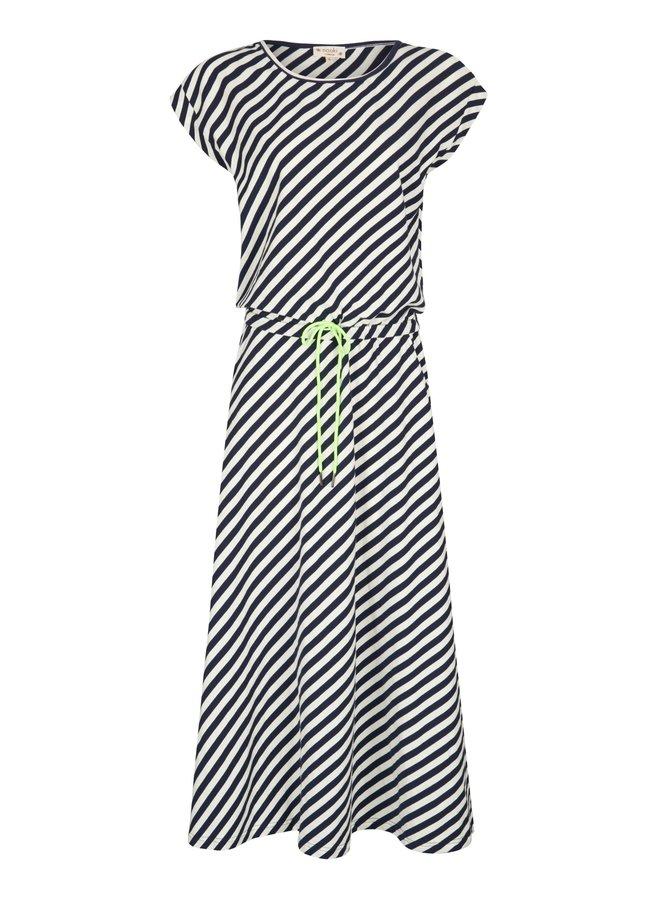 Montrose Dress - Navy Stripe