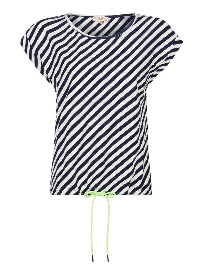Matilda Jersey Tee - Navy Stripe