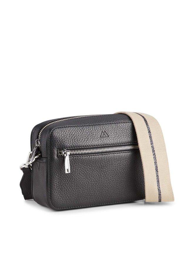 Elea Grain Crossbody Bag - Camel/Gun Strap