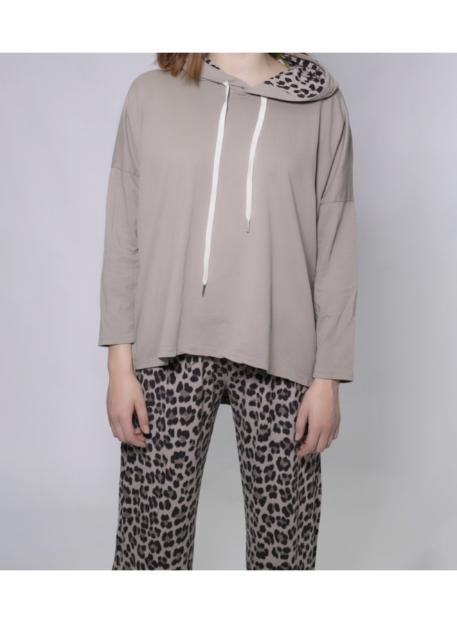 Abstract Hoodie - Taupe