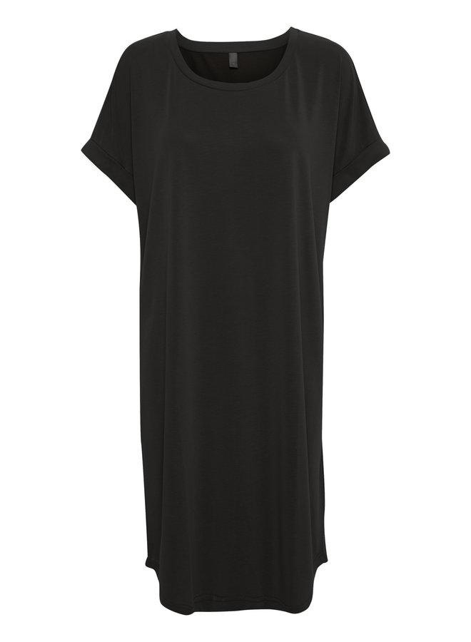Kajsa T-Shirt Dress - Black Wash