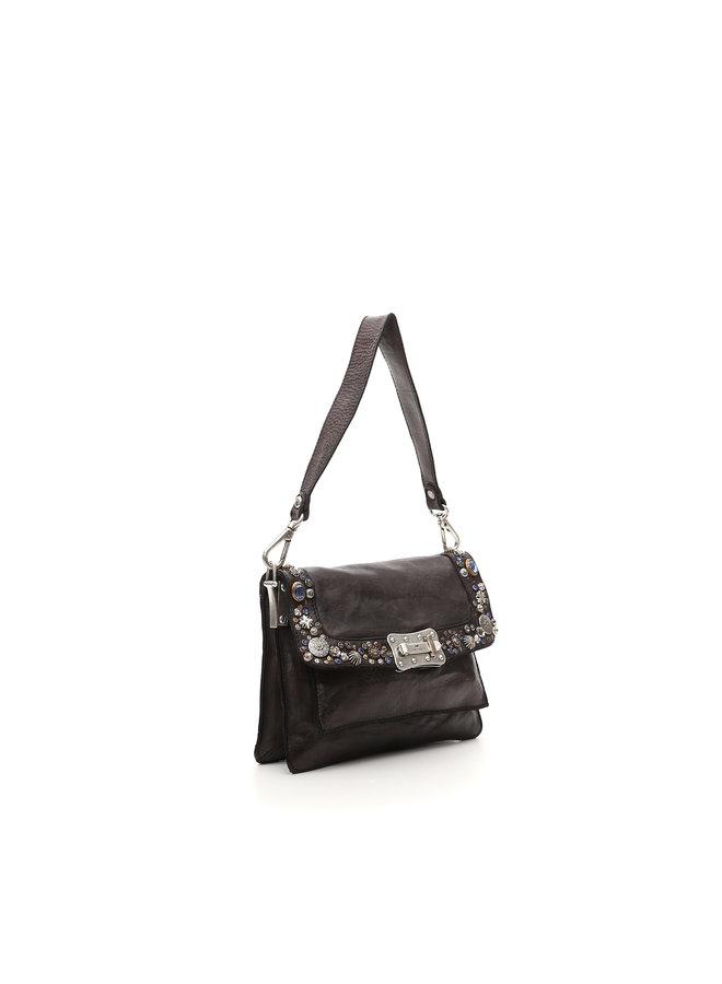 Agnese Medium Crossbody Bag - Grey