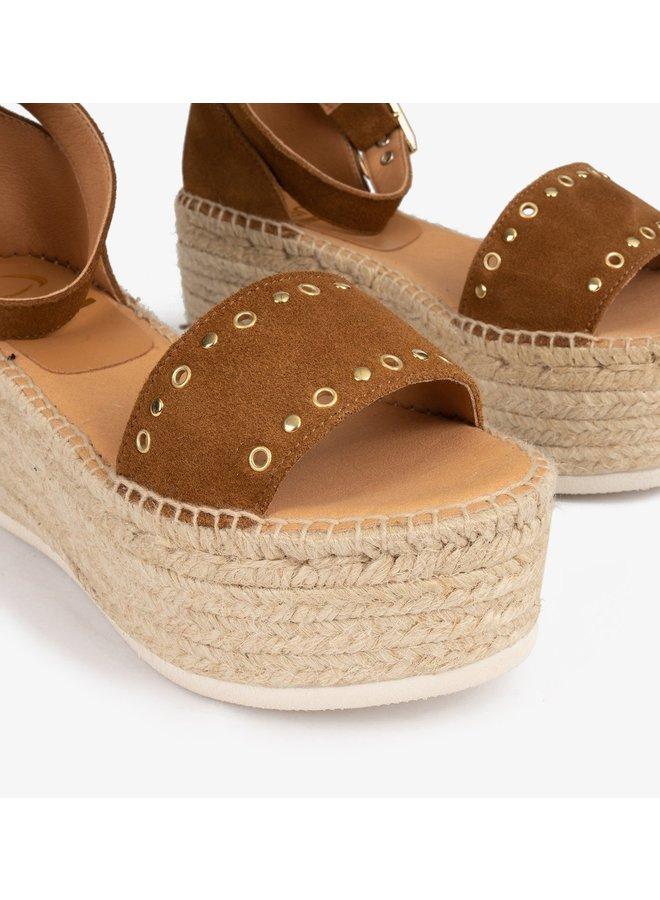 Linda Natural Suede Sandals - Creta