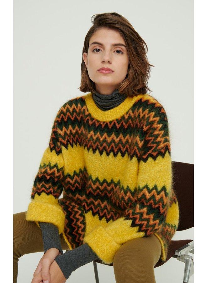 Zabido Pattern Knit - Canary Mel