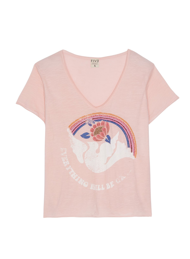 Peace Dove Tee - Pink