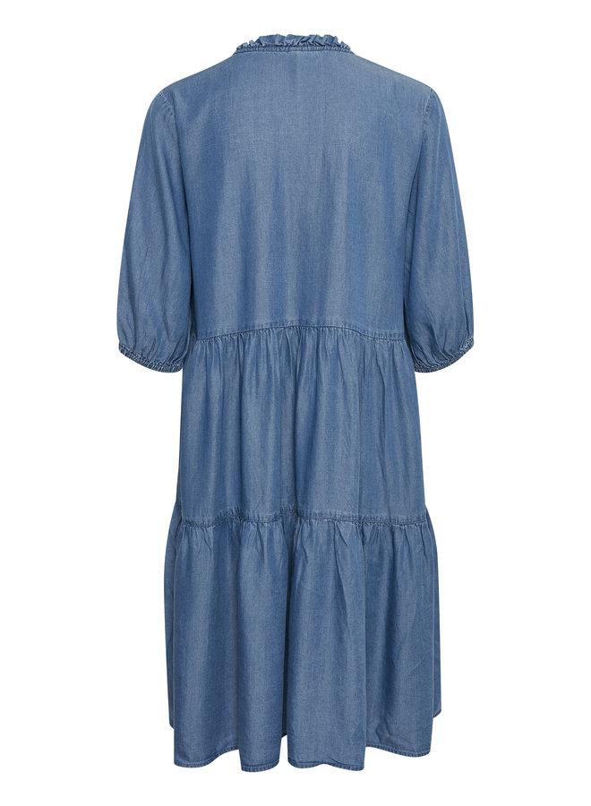 Mindy Dress - Dark Blue Wash