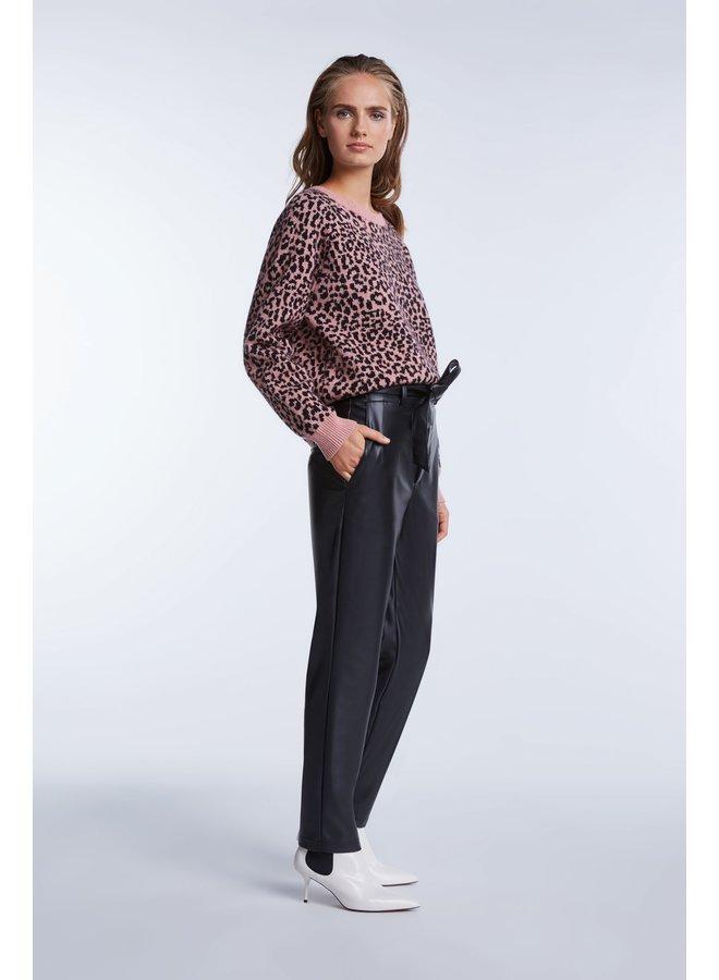 Leopard Jumper - Pink
